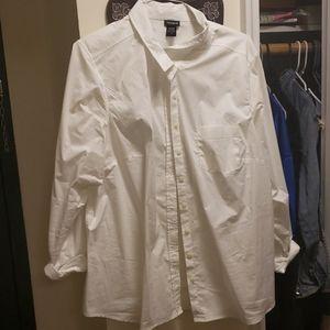White work blouse torrid never worn size 3